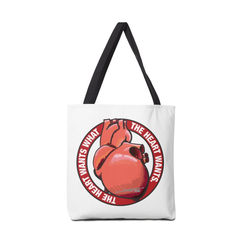 The Heart Wants... Accessories Tote Bag Bag by Pigment Studios Merch
