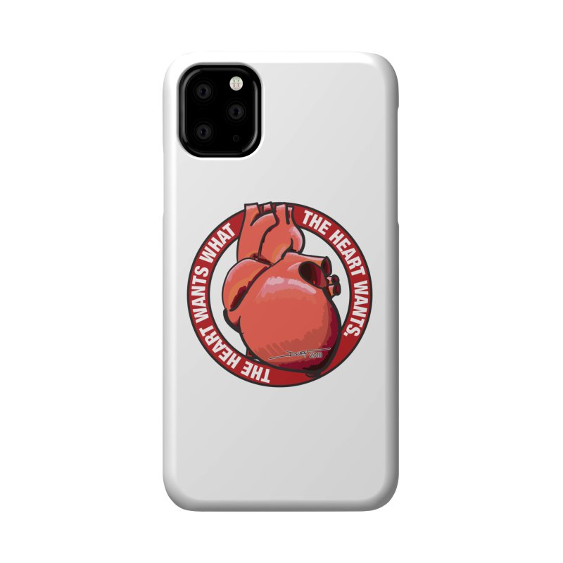 The Heart Wants... Accessories Phone Case by Pigment Studios Merch