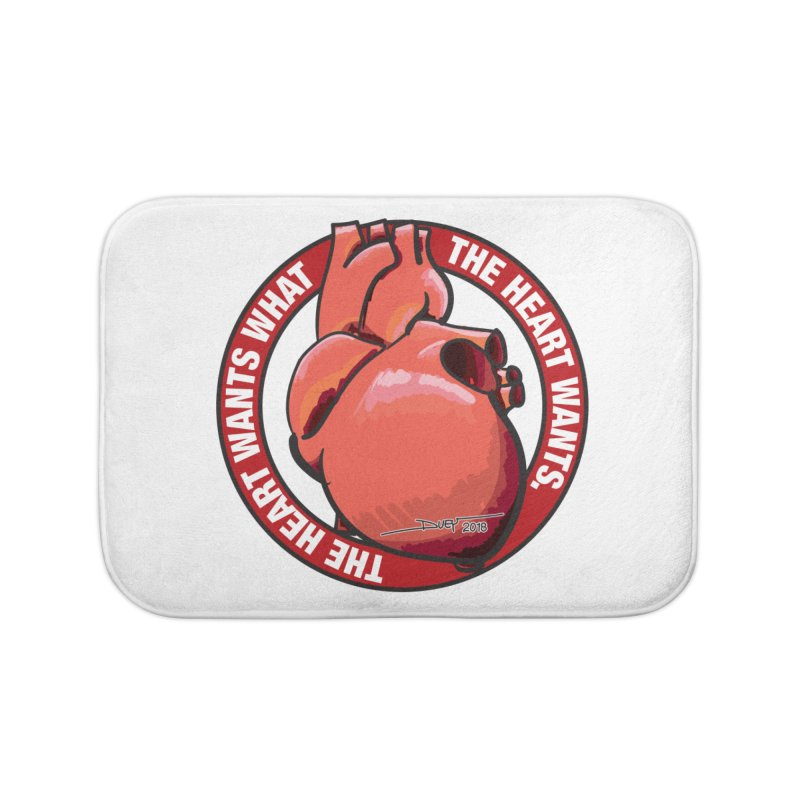 The Heart Wants... Home Bath Mat by Pigment Studios Merch