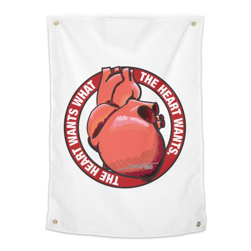 The Heart Wants... Home Tapestry by Pigment Studios Merch