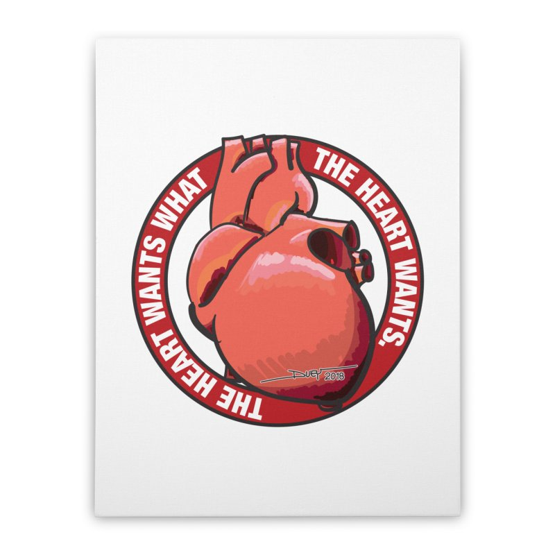 The Heart Wants... Home Stretched Canvas by Pigment Studios Merch