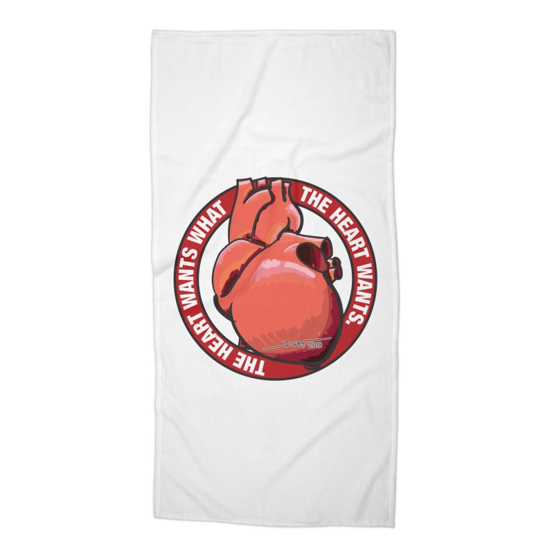 The Heart Wants... Accessories Beach Towel by Pigment Studios Merch