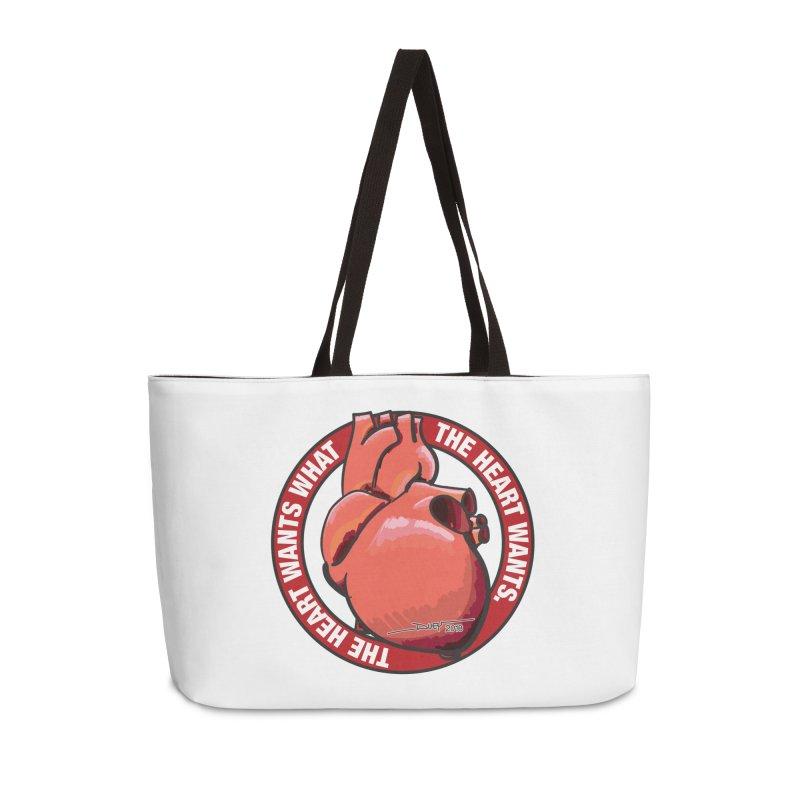 The Heart Wants... Accessories Weekender Bag Bag by Pigment Studios Merch