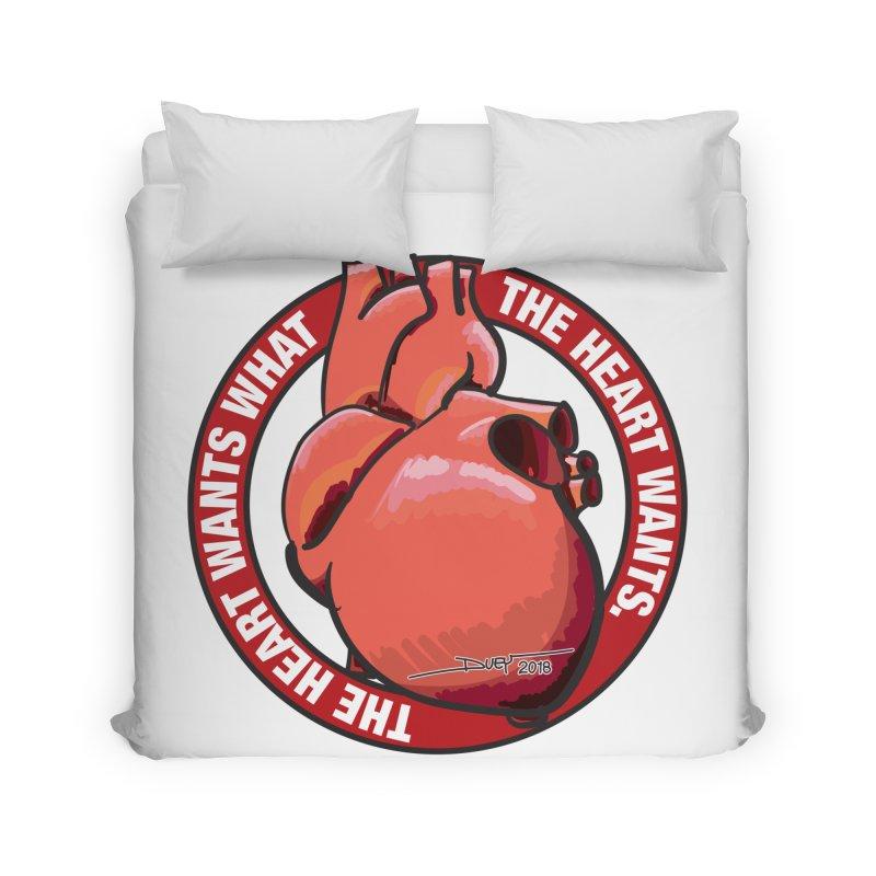 The Heart Wants... Home Duvet by Pigment Studios Merch