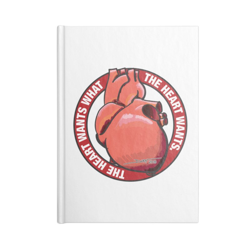 The Heart Wants... Accessories Blank Journal Notebook by Pigment Studios Merch