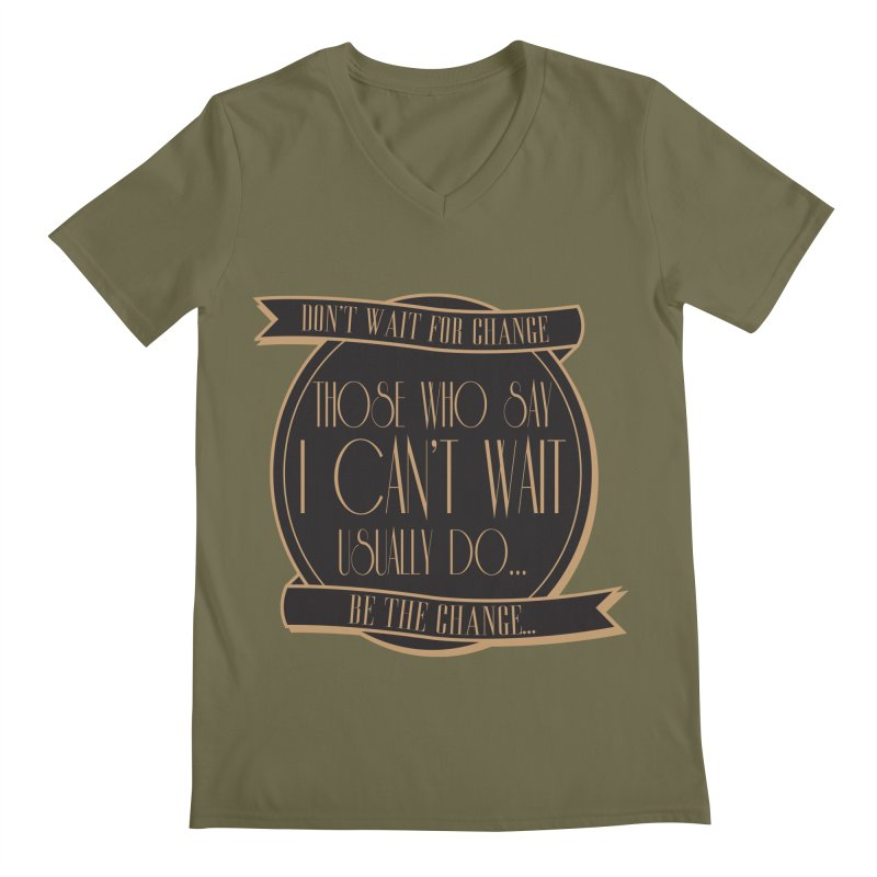 Those Who Say I Can't Wait... Men's Regular V-Neck by Pigment Studios Merch