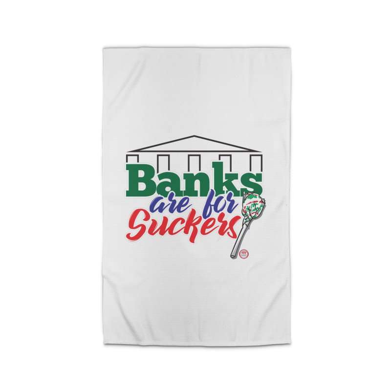 Banks are for Suckers. Home Rug by Pigment Studios Merch