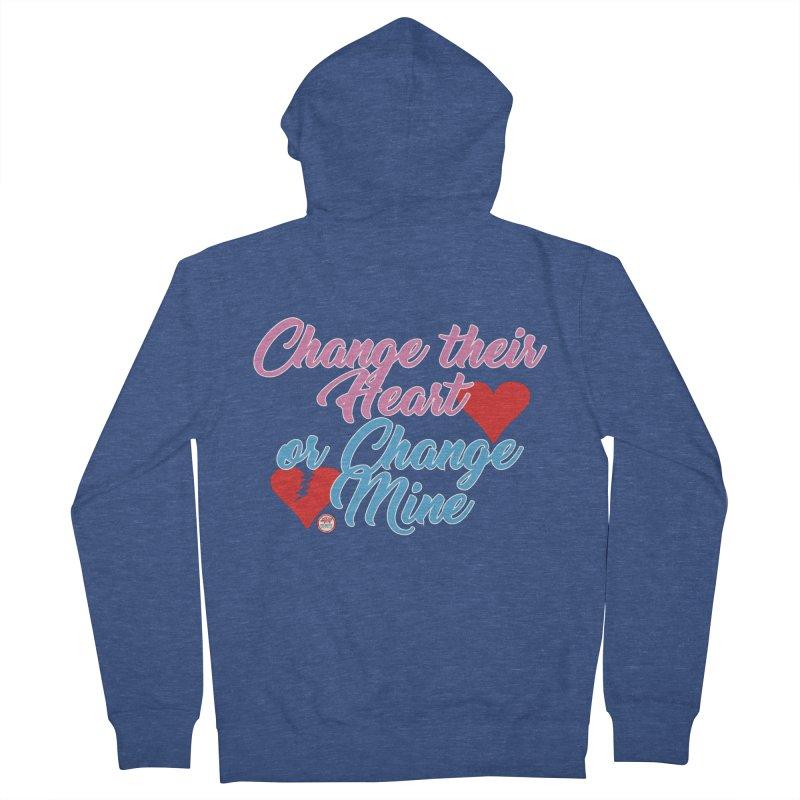 Change Her Heart... Men's French Terry Zip-Up Hoody by Pigment Studios Merch