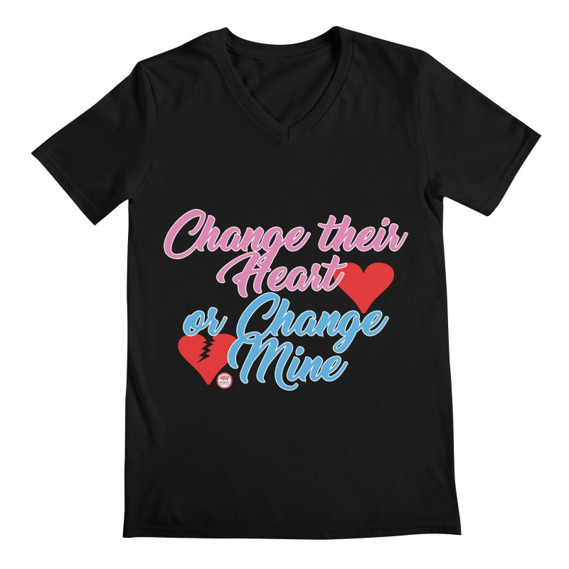 Change Her Heart... Men's Regular V-Neck by Pigment Studios Merch