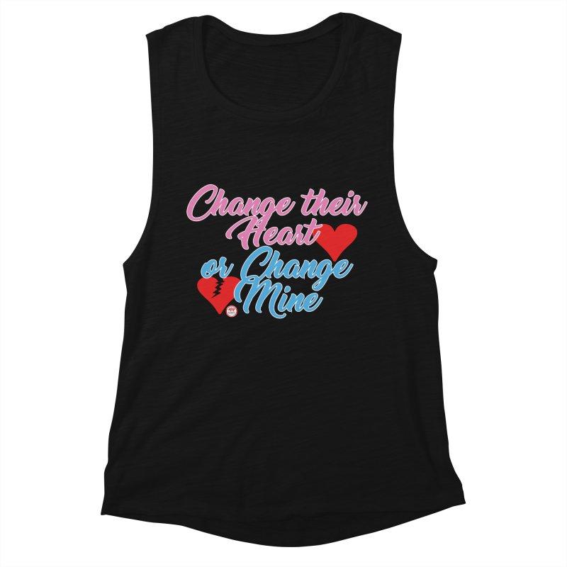 Change Her Heart... Women's Muscle Tank by Pigment Studios Merch