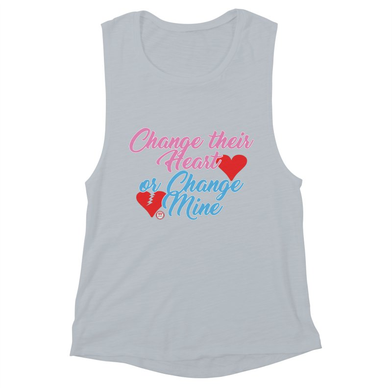Change Her Heart... Women's Muscle Tank by Pigment Studios Merch