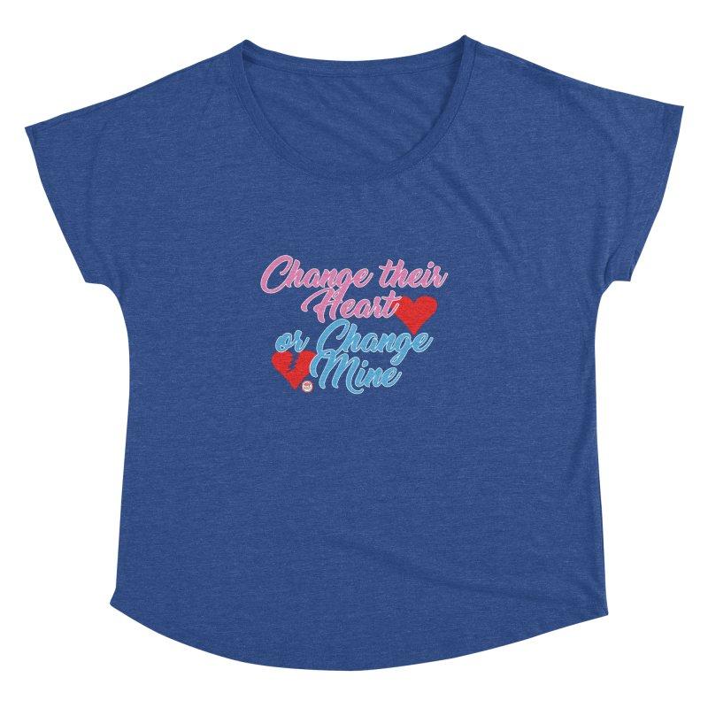 Change Her Heart... Women's Dolman Scoop Neck by Pigment Studios Merch