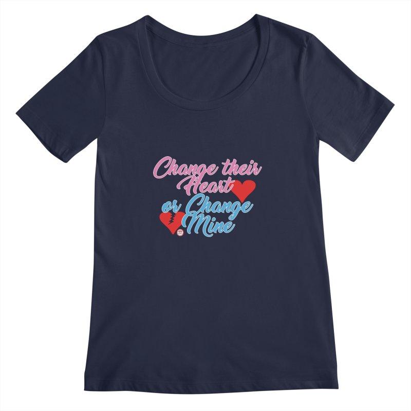 Change Her Heart... Women's Regular Scoop Neck by Pigment Studios Merch