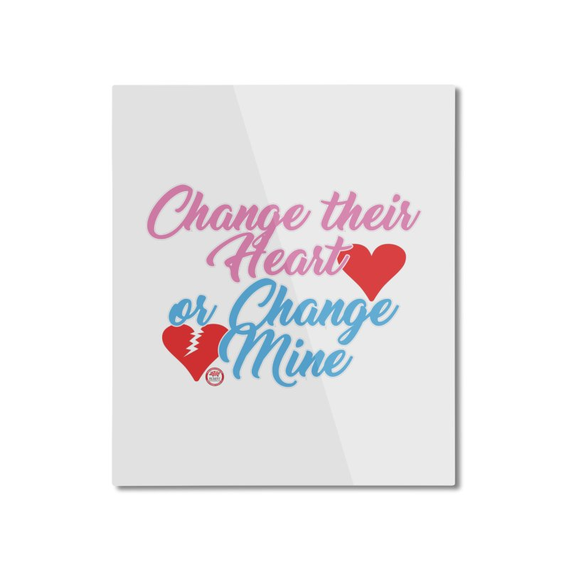 Change Her Heart... Home Mounted Aluminum Print by Pigment Studios Merch