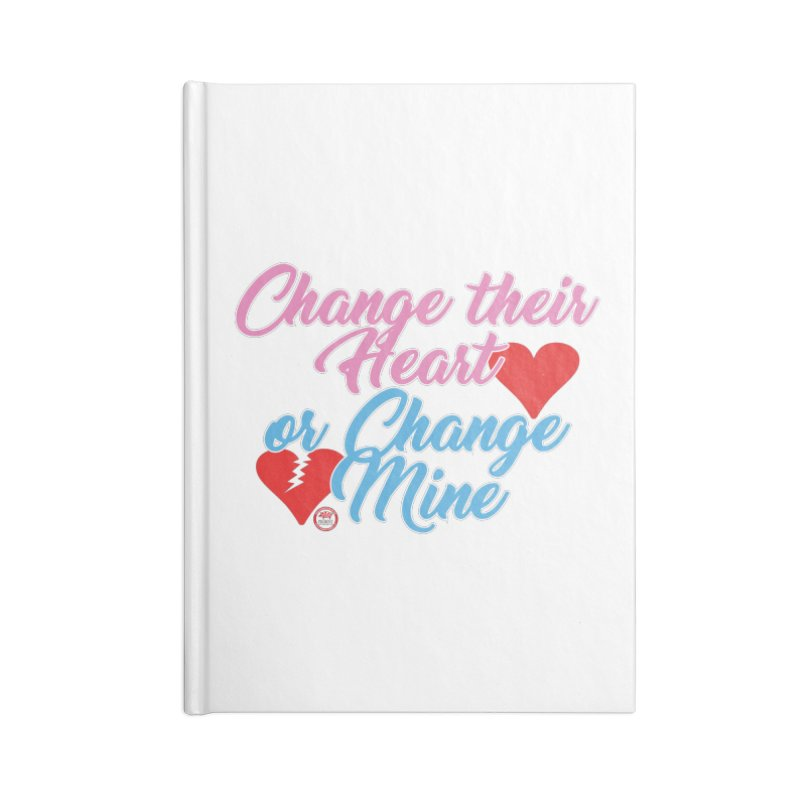 Change Her Heart... Accessories Lined Journal Notebook by Pigment Studios Merch