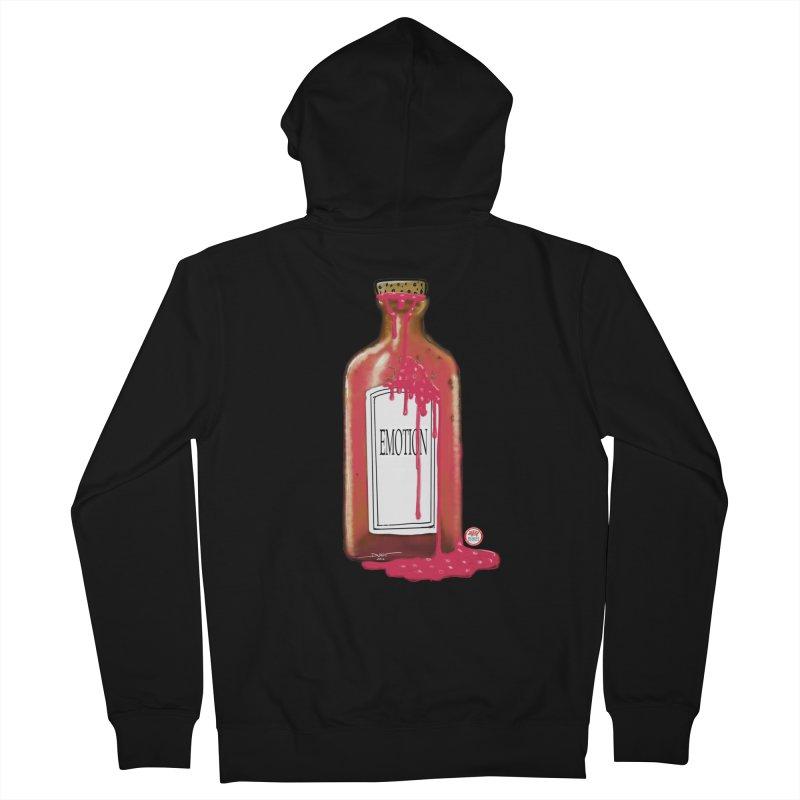 Bottled Emotion Men's Zip-Up Hoody by Pigment Studios Merch