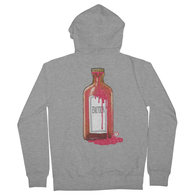 Bottled Emotion Women's French Terry Zip-Up Hoody by Pigment Studios Merch