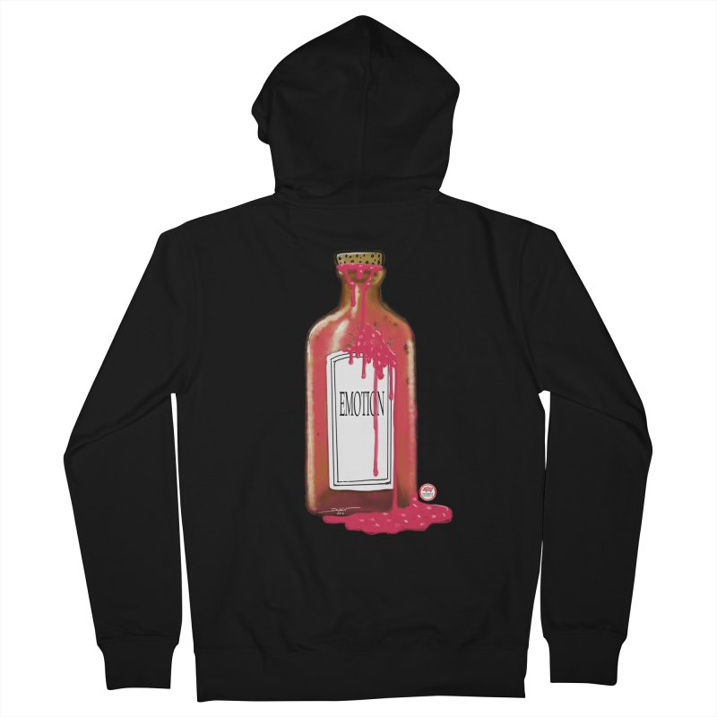 Bottled Emotion Men's French Terry Zip-Up Hoody by Pigment Studios Merch