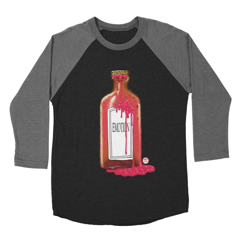 Bottled Emotion Men's Baseball Triblend Longsleeve T-Shirt by Pigment Studios Merch
