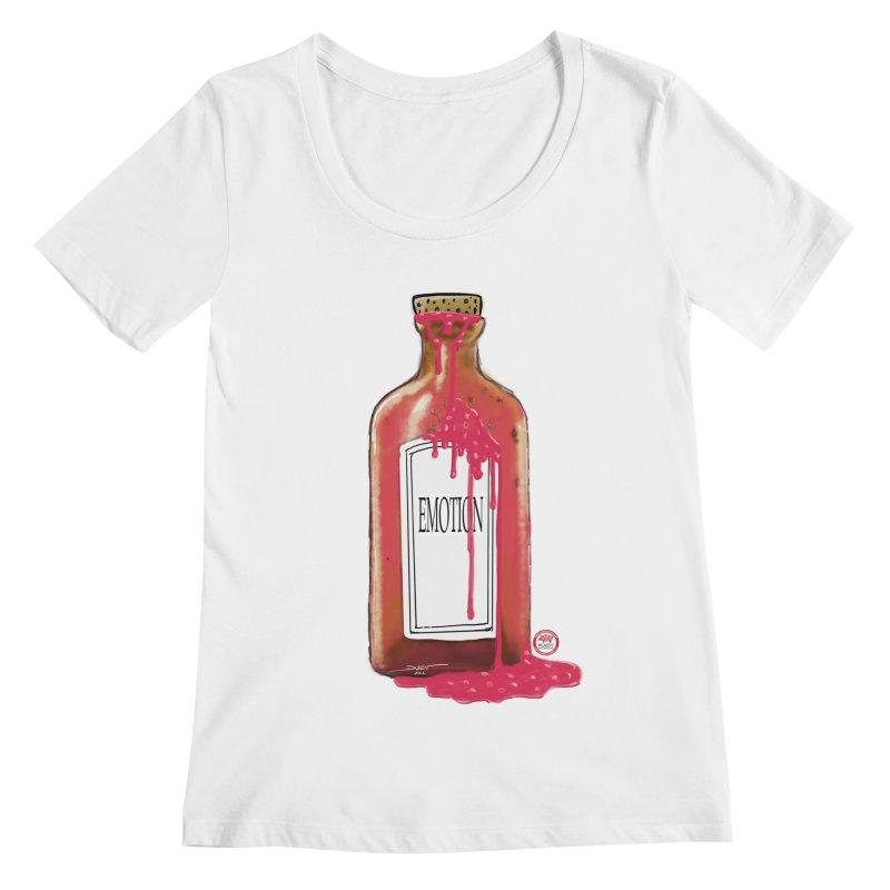 Bottled Emotion Women's Regular Scoop Neck by Pigment Studios Merch