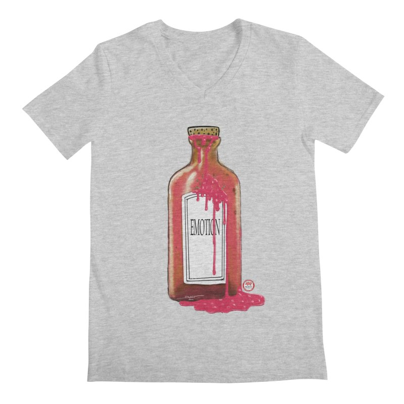 Bottled Emotion Men's Regular V-Neck by Pigment Studios Merch