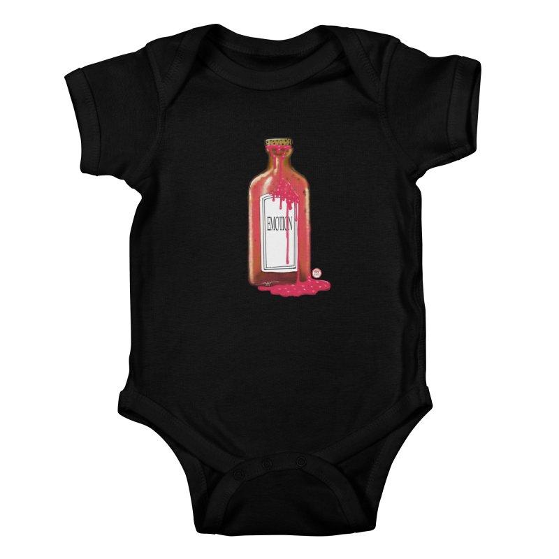 Bottled Emotion Kids Baby Bodysuit by Pigment Studios Merch
