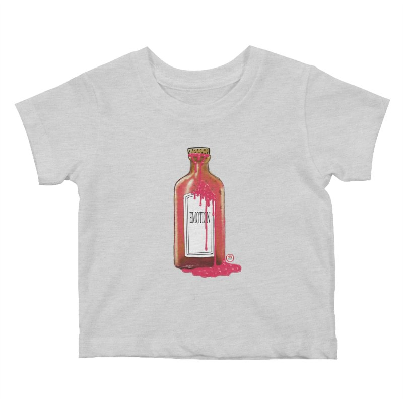 Bottled Emotion Kids Baby T-Shirt by Pigment Studios Merch