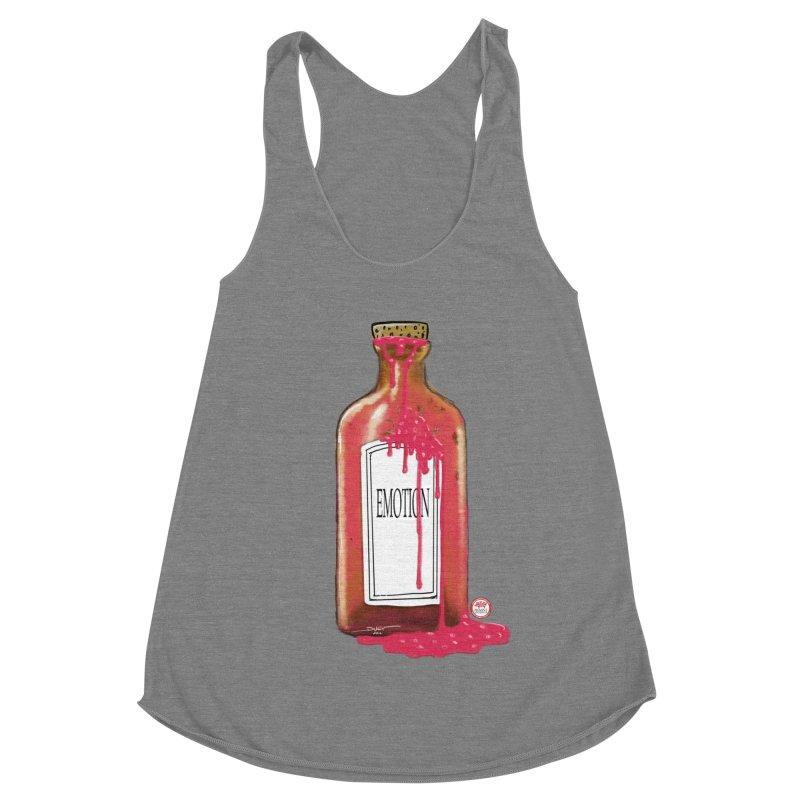Bottled Emotion Women's Racerback Triblend Tank by Pigment Studios Merch