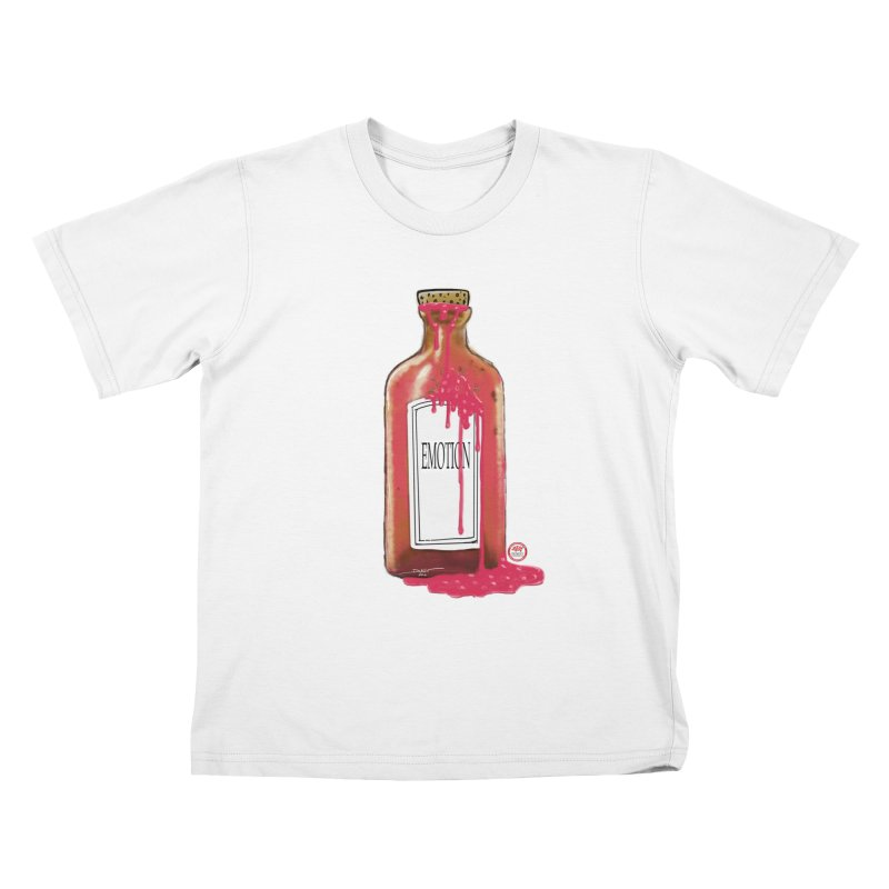 Bottled Emotion Kids T-Shirt by Pigment Studios Merch