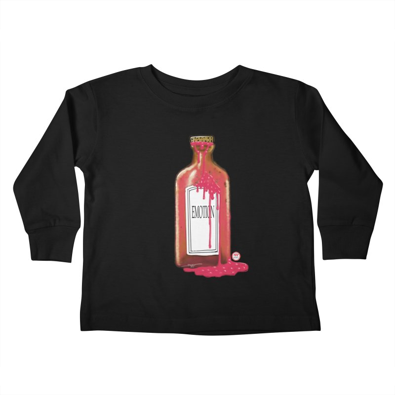 Bottled Emotion Kids Toddler Longsleeve T-Shirt by Pigment Studios Merch