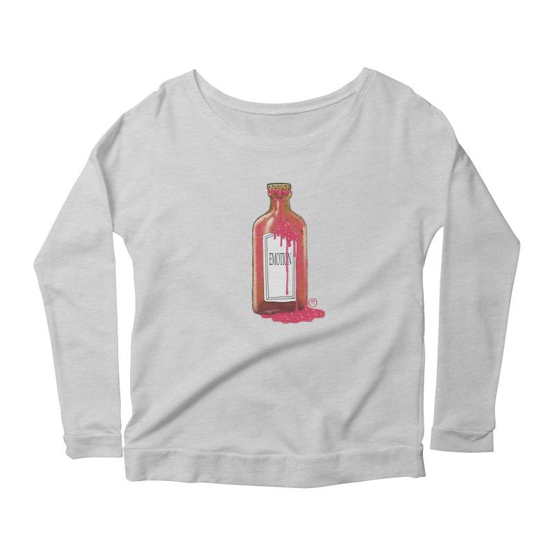 Bottled Emotion Women's Scoop Neck Longsleeve T-Shirt by Pigment Studios Merch