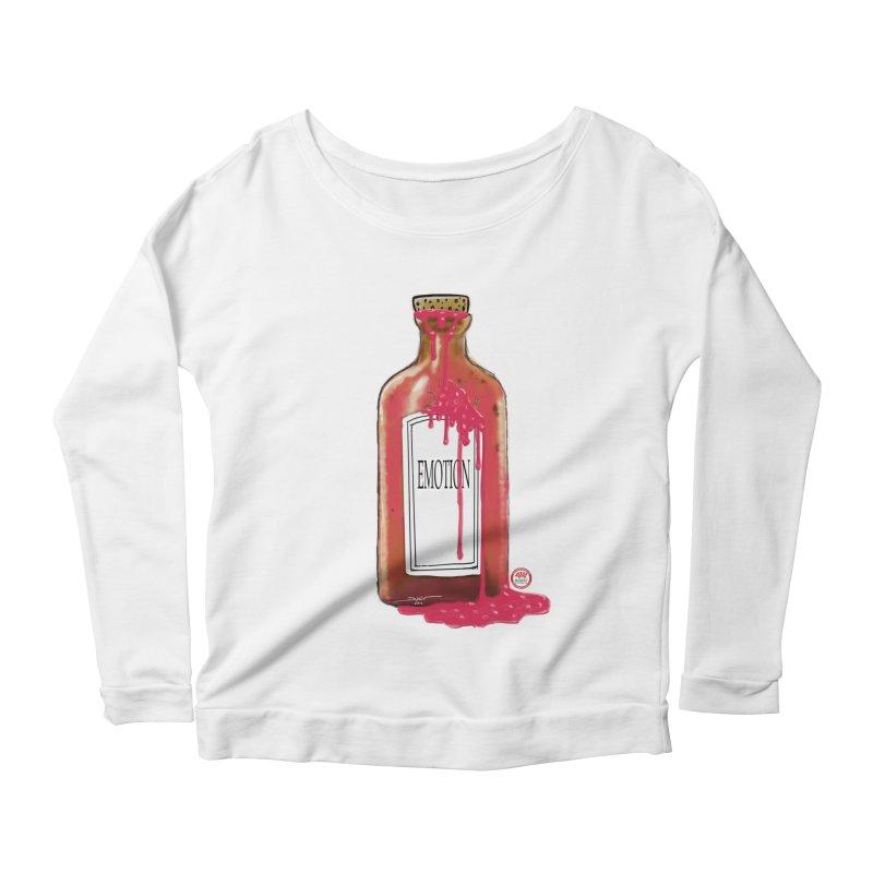 Bottled Emotion Women's Longsleeve Scoopneck  by Pigment Studios Merch