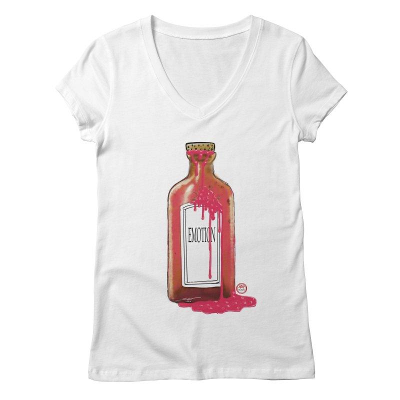 Bottled Emotion Women's Regular V-Neck by Pigment Studios Merch
