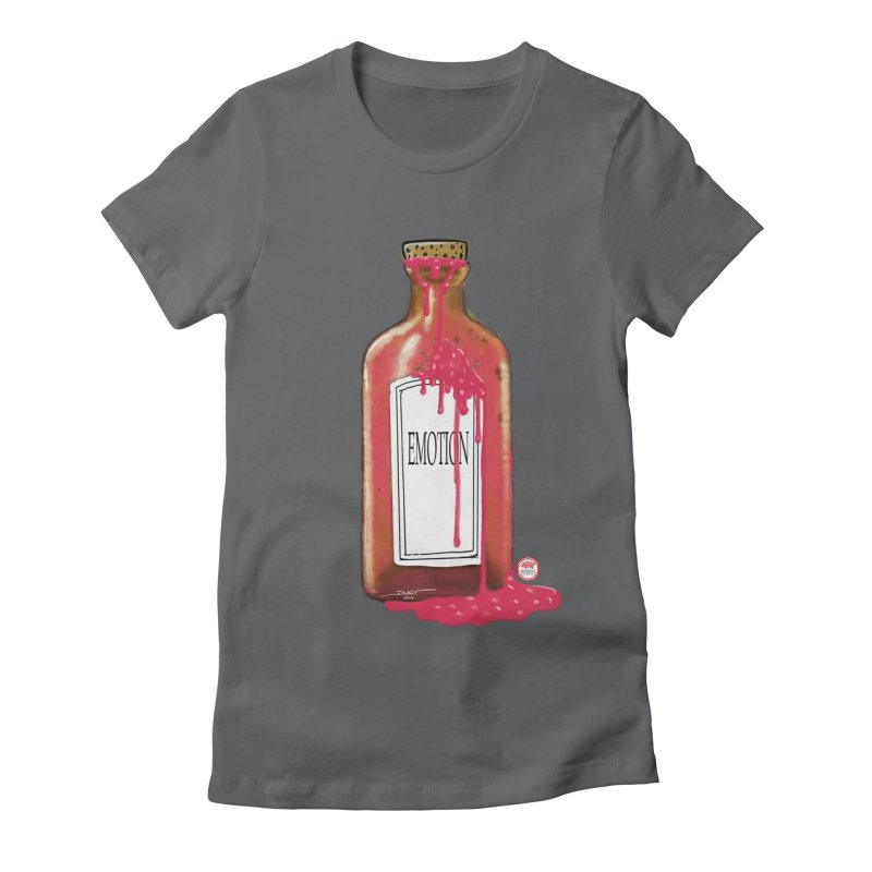 Bottled Emotion Women's Fitted T-Shirt by Pigment Studios Merch