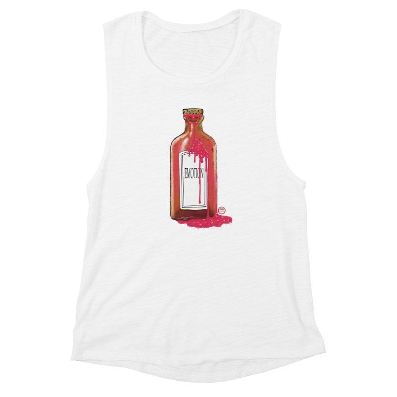 Bottled Emotion Women's Muscle Tank by Pigment Studios Merch