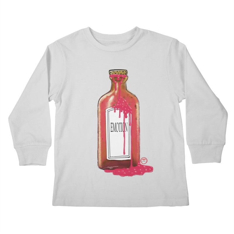 Bottled Emotion Kids Longsleeve T-Shirt by Pigment Studios Merch