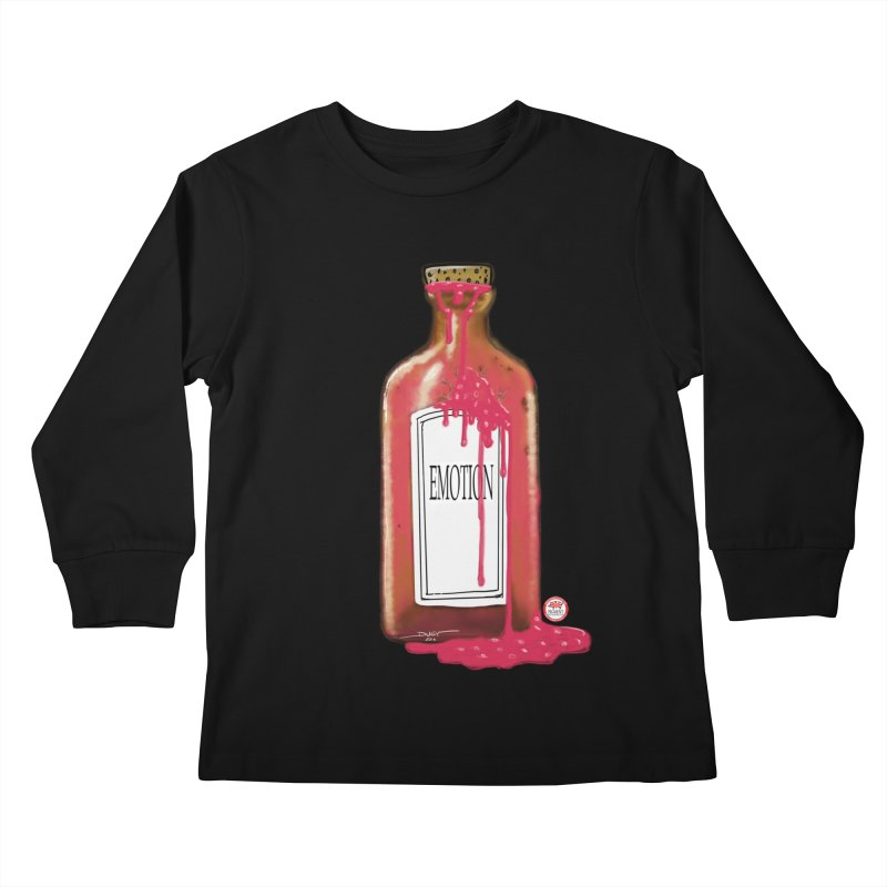 Bottled Emotion Kids Longsleeve T-Shirt by Pigment Studios Merch