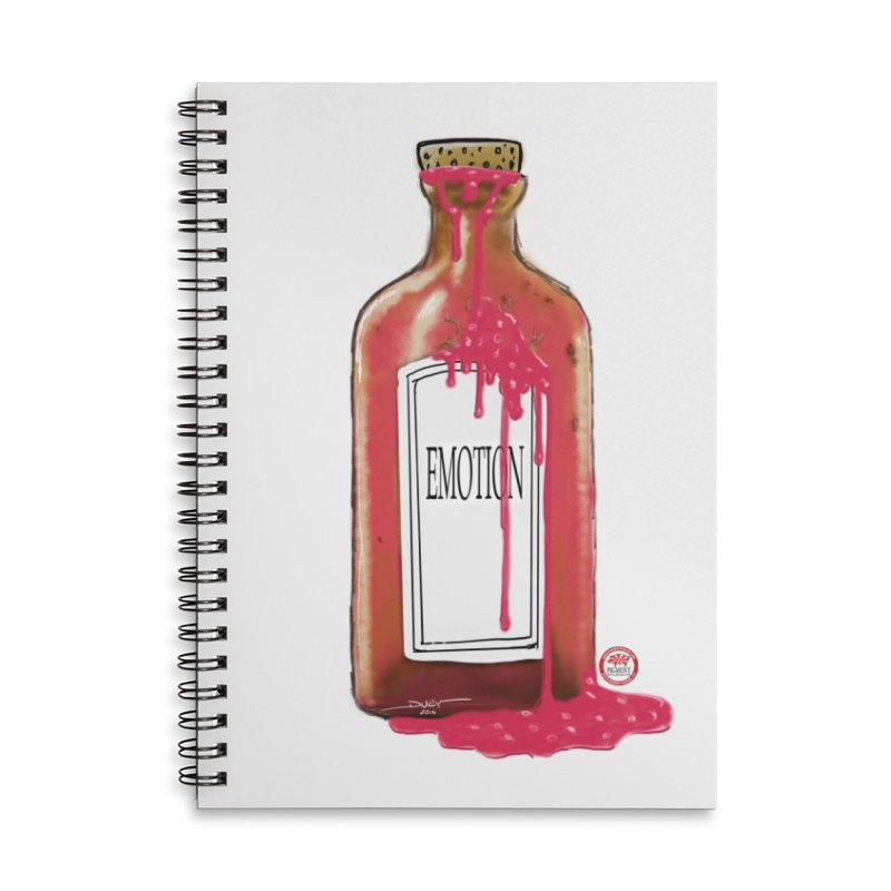 Bottled Emotion Accessories Lined Spiral Notebook by Pigment Studios Merch
