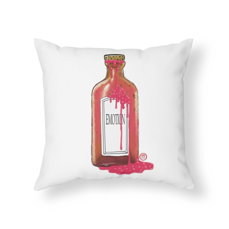 Bottled Emotion Home Throw Pillow by Pigment Studios Merch