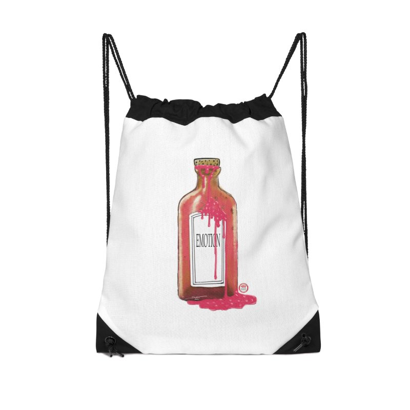 Bottled Emotion Accessories Drawstring Bag Bag by Pigment Studios Merch
