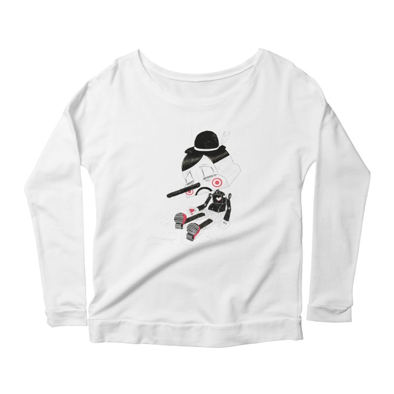 Unplug Women's Longsleeve Scoopneck  by pigologist's Shop
