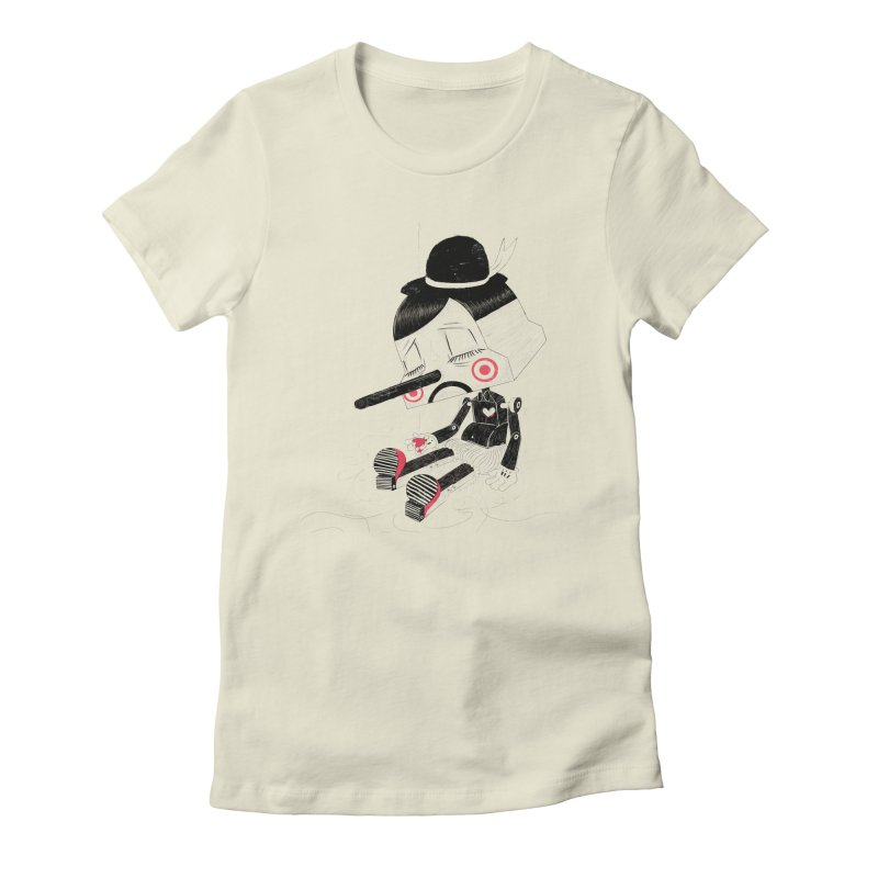 Unplug Women's Fitted T-Shirt by pigologist's Shop
