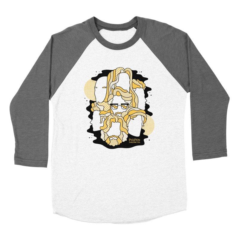 The Faces Men's Baseball Triblend Longsleeve T-Shirt by PigPen Theatre Co.'s Online Merch Shop