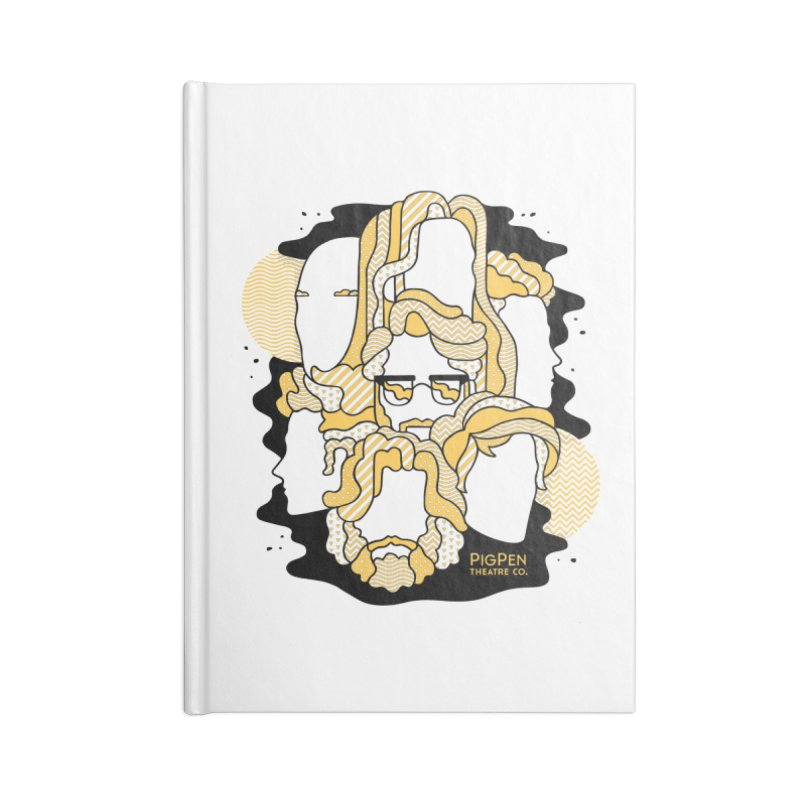 The Faces in Blank Journal Notebook by PigPen Theatre Co.'s Online Merch Shop