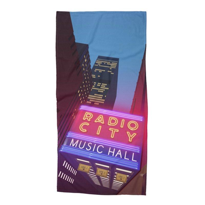 Radio City Music Hall Accessories Beach Towel by Pig's Ear Gear on Threadless