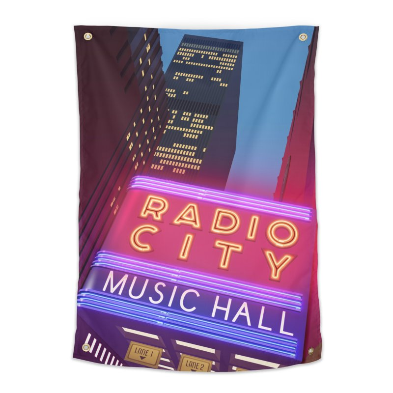 Radio City Music Hall Home Tapestry by Pig's Ear Gear on Threadless