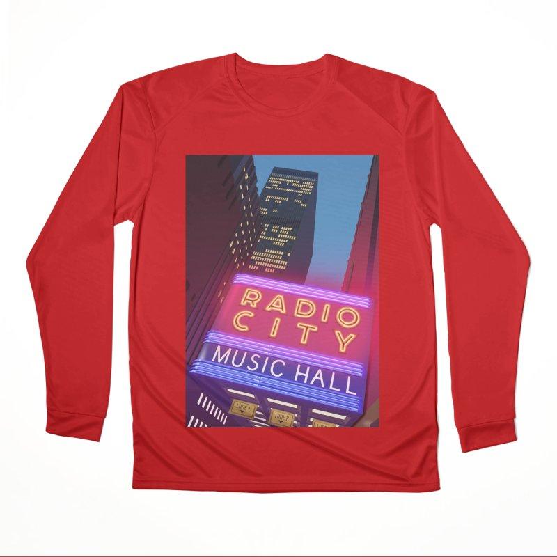Radio City Music Hall Men's Performance Longsleeve T-Shirt by Pig's Ear Gear on Threadless
