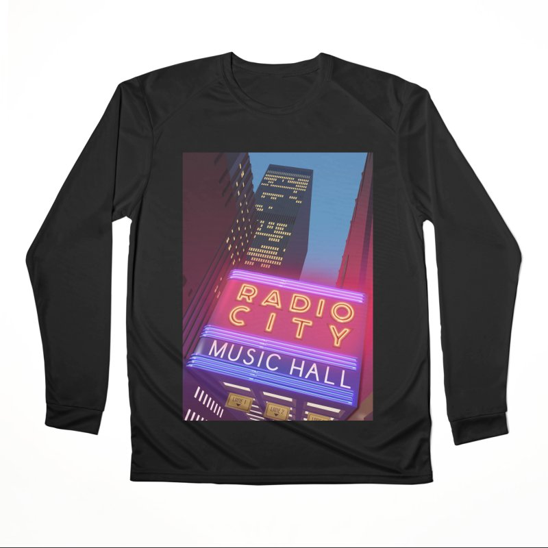 Radio City Music Hall Men's Performance Longsleeve T-Shirt by Pig's Ear Gear on Threadless