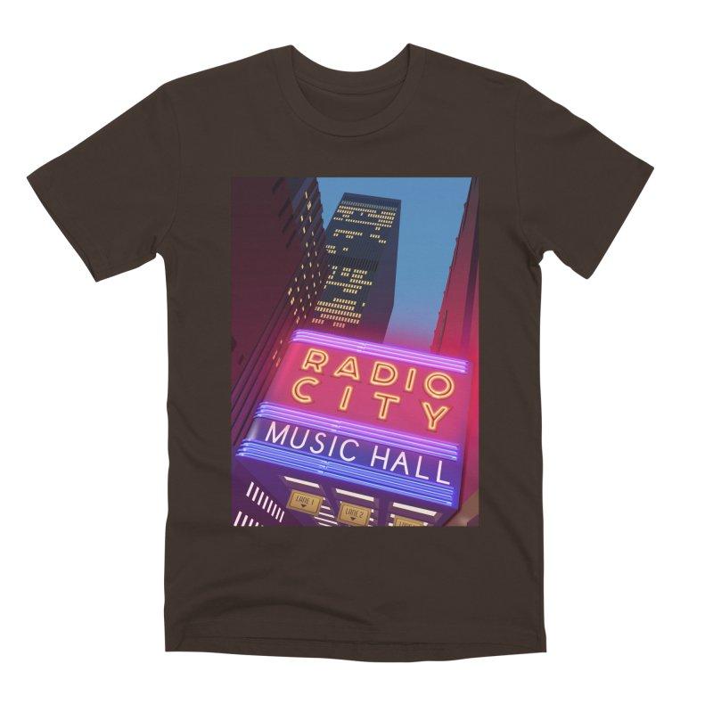 Radio City Music Hall Men's Premium T-Shirt by Pig's Ear Gear on Threadless