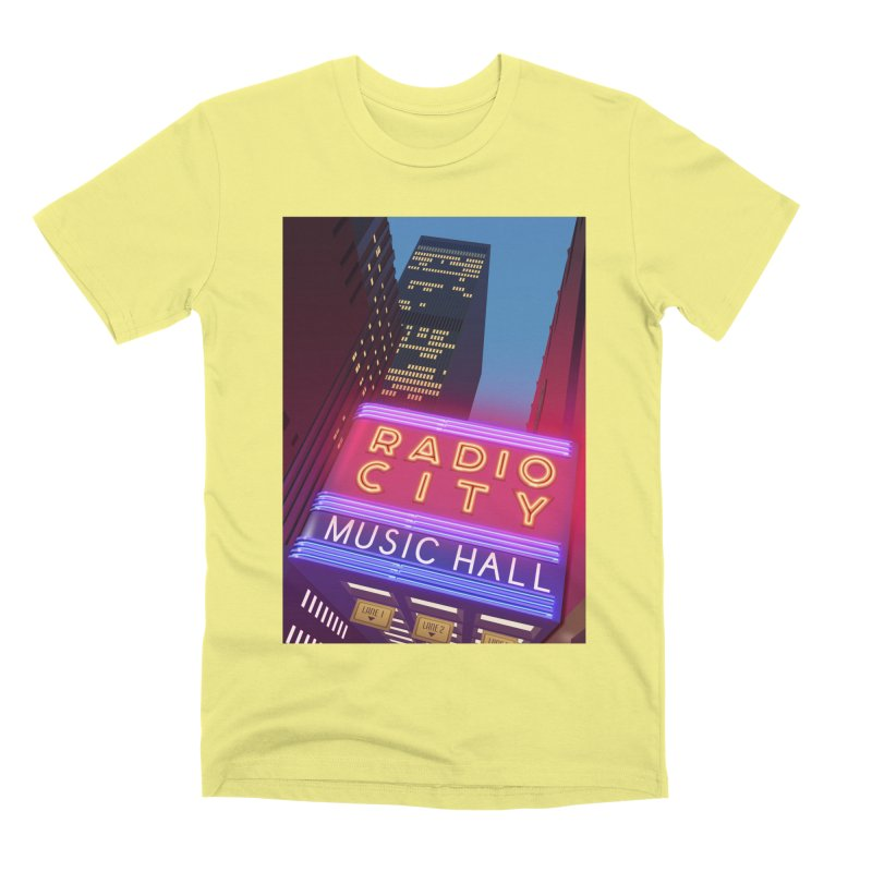 Radio City Music Hall Men's Premium T-Shirt by Pig's Ear Gear on Threadless